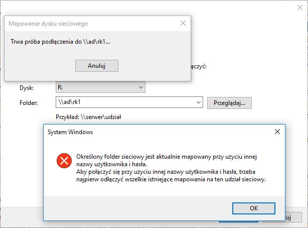 Windows i błąd mapowania zasobu